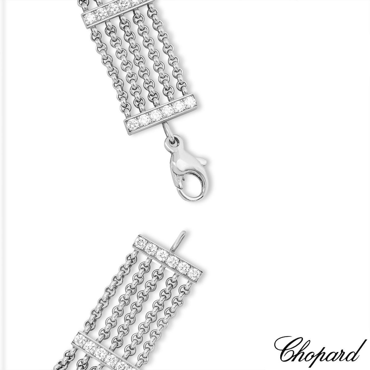 Chopard White Gold Happy Curves Bracelet 85/4831-0